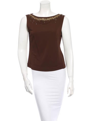 Alberta Ferretti Embellished Top None