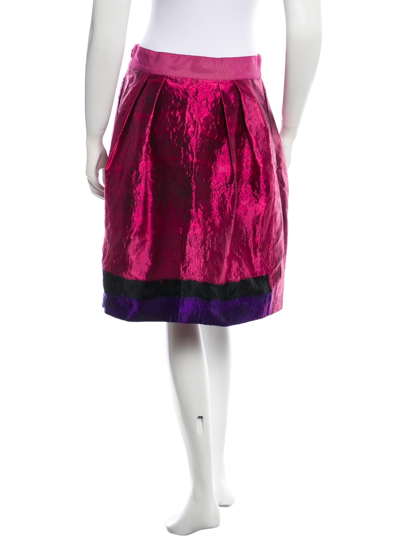 alberta ferretti metallic a line skirt clothing
