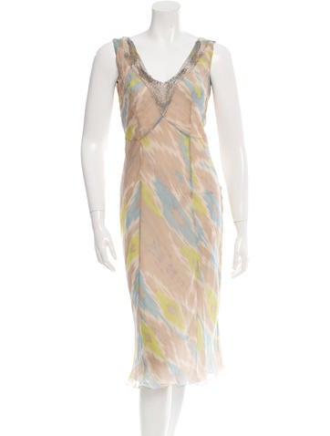 Alberta Ferretti Embellished Silk Dress None