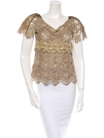 Alberta Ferretti Lace Top None