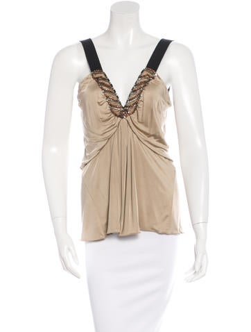 Alberta Ferretti Embellished Sleeveless Top None