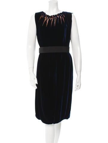 Alberta Ferretti Sleeveless Velvet Dress