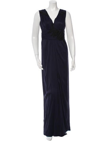 Alberta Ferretti Silk Embellished Gown None