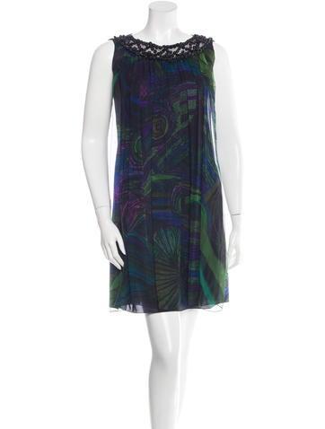 Alberta Ferretti Embellished Silk Dress None