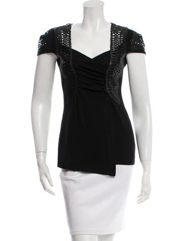 Alberta Ferretti Wool Ruched Top