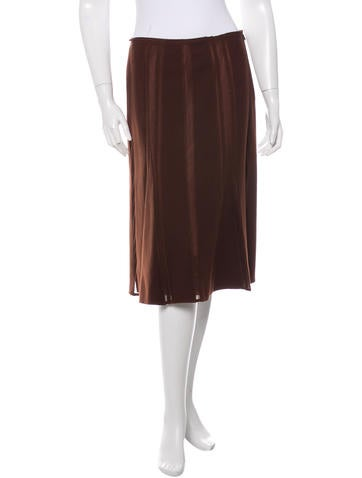 Alberta Ferretti Paneled Wool Skirt