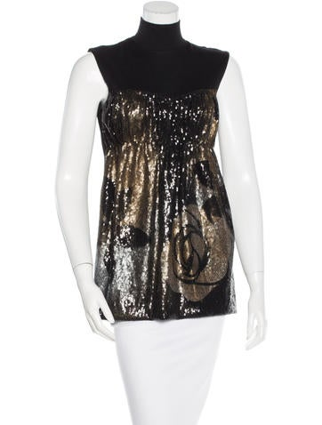 Alberta Ferretti Embellished Virgin Wool Top None