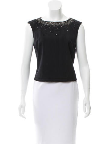 Alberta Ferretti Embellished Crop Top None