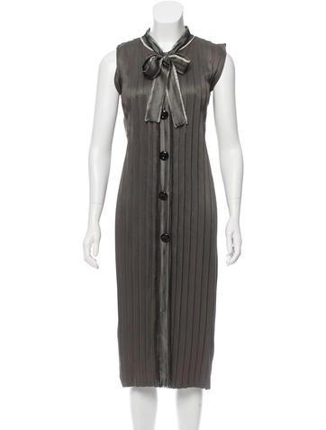 Alberta Ferretti Silk Pleated Dress None