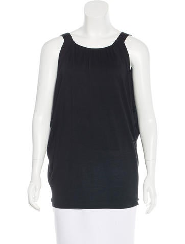 Alberta Ferretti Draped Silk Top None