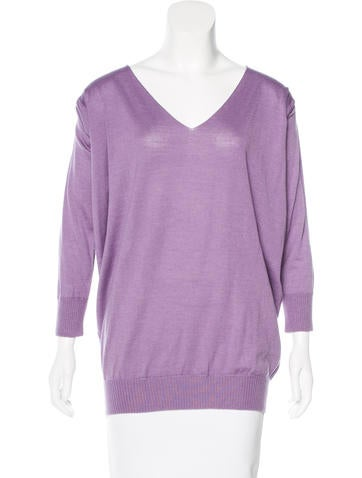 Alberta Ferretti Woo-Blend Knit Sweater None
