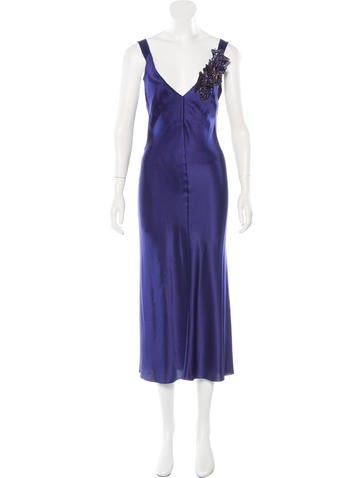 Alberta Ferretti Silk Maxi Dress None