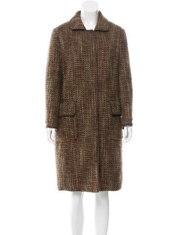 Alberta Ferretti Tweed Long Coat