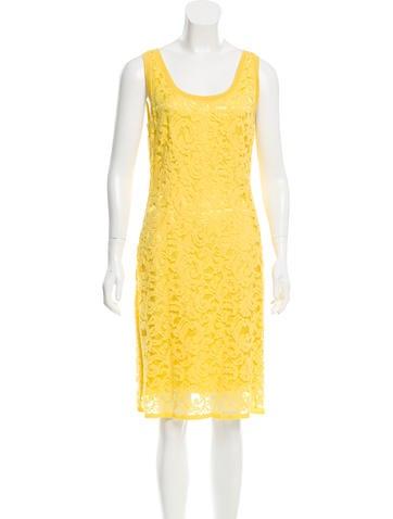 Alberta Ferretti Lace Sleeveless Dress None