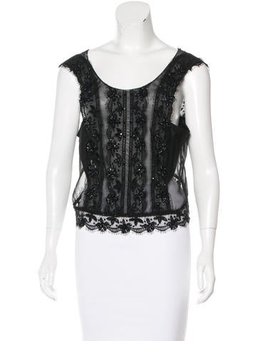 Alberta Ferretti Silk Embellished Top w/ Tags None