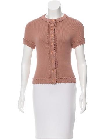 Alberta Ferretti Virgin Wool Short Sleeve Cardigan None