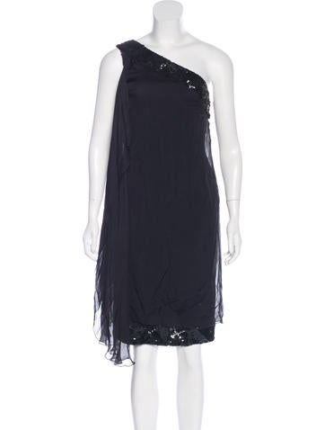 Alberta Ferretti Embellished One-Shoulder Dress None