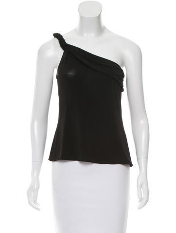 Alberta Ferretti Semi-Sheer One-Shoulder Top None