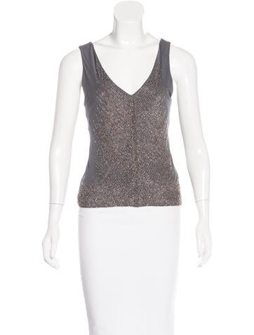 Alberta Ferretti Sleeveless Embellished Top None