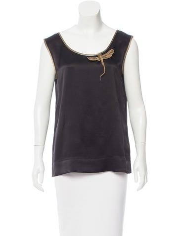 Alberta Ferretti Embellished Silk Blouse None