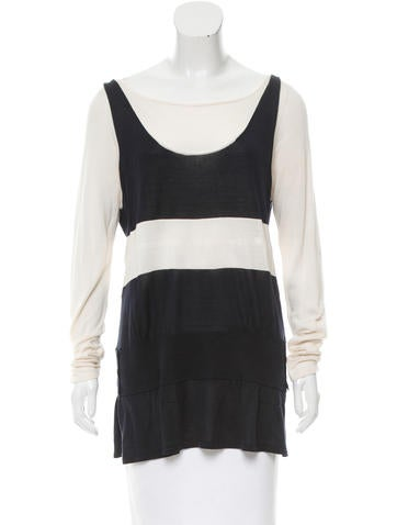 Alberta Ferretti Colorblock Silk Sweater None