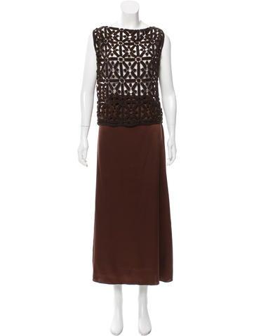 Alberta Ferretti Embellished Skirt Set None