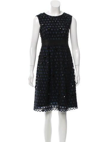 Alberta Ferretti Embellished Embroidered Dress None