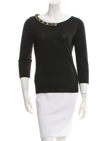 Alberta Ferretti Wool Long Sleeve Top None