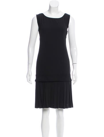 Alberta Ferretti Sleeveless Pleated Dress w/ Tags None