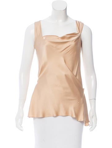 Alberta Ferretti Satin Sleeveless Top None