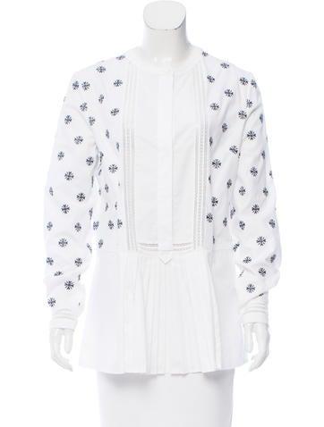 Alberta Ferretti Embroidered Long Sleeve Top None