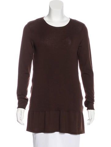 Alberta Ferretti Wool Rib Knit Top None