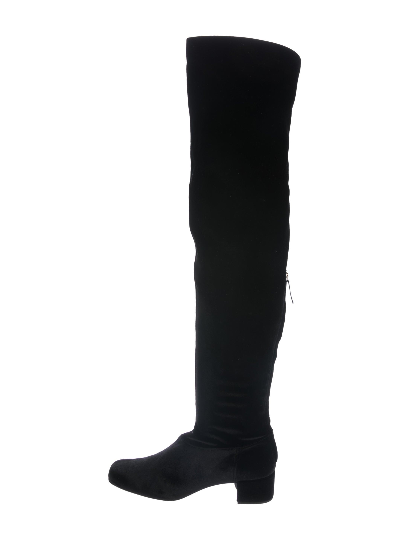 Alberta Ferretti Velvet over-the-knee boots Visitez Nouvelle Vente En Ligne XdSiwLEBv