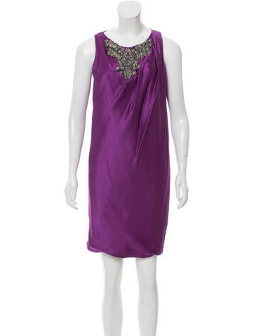 Alberta Ferretti Silk Knee-Length Dress None