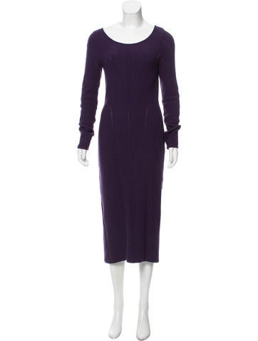 Alberta Ferretti Virgin Wool Sweater Dress None
