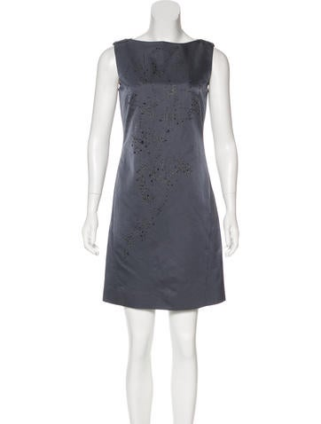 Alberta Ferretti Embellished Wool & Silk Dress None