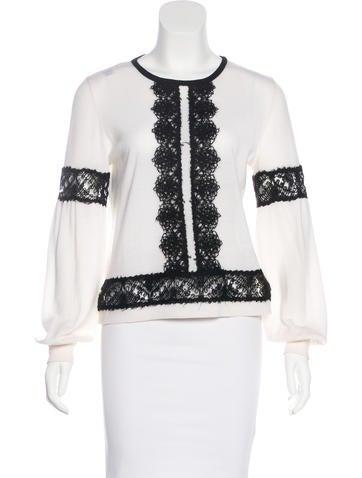Alberta Ferretti Wool Knit Sweatshirt None