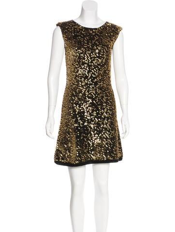 Alberta Ferretti Sequined Knit Dress None