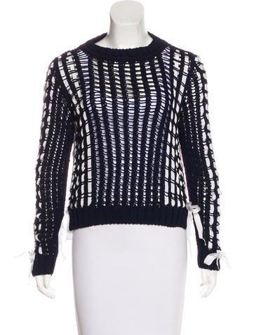 Alberta Ferretti Open Knit Long Sleeve Sweater w/ Tags None