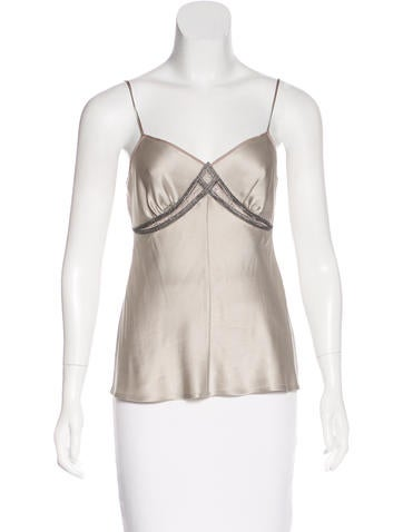 Alberta Ferretti Silk Sleeveless Top None