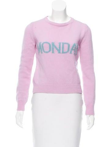Alberta Ferretti 2017 Wool & Cashmere-Blend Sweater None