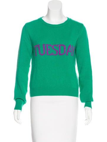 Alberta Ferretti Wool & Cashmere-Blend Sweater None