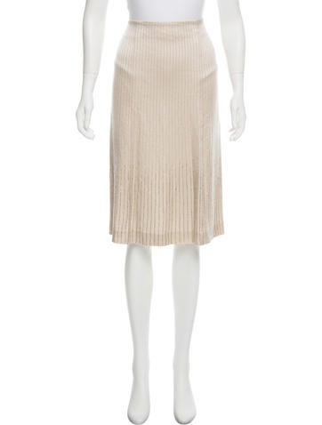 Alberta Ferretti Beaded Knee-Length Skirt None
