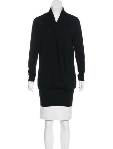 Alberta Ferretti Surplice Wool Sweater None