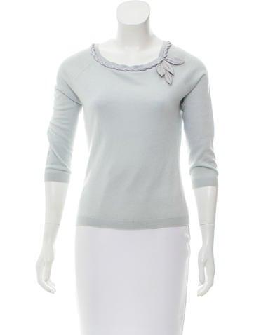 Alberta Ferretti Silk & Cashmere-Blend Sweater None