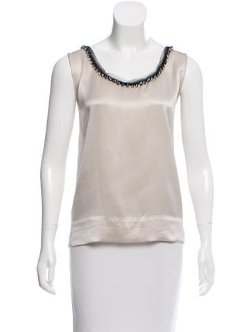 Alberta Ferretti Embellished Silk Top None