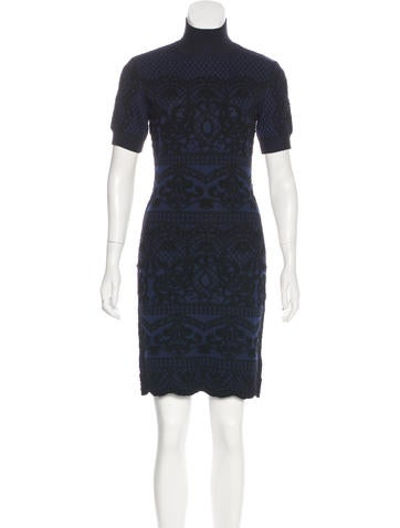 Alberta Ferretti Knit Sheath Dress None