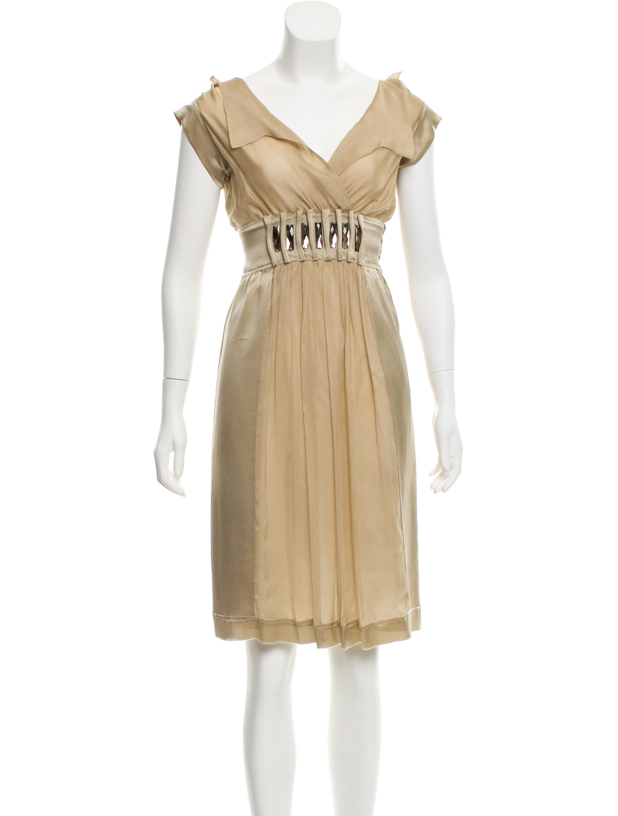 f3c85abcba Alberta Ferretti Silk Embellished Dress - Clothing - ALB26542 | The ...