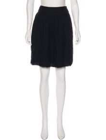 Alberta Ferretti Silk Textured Skirt w/ Tags