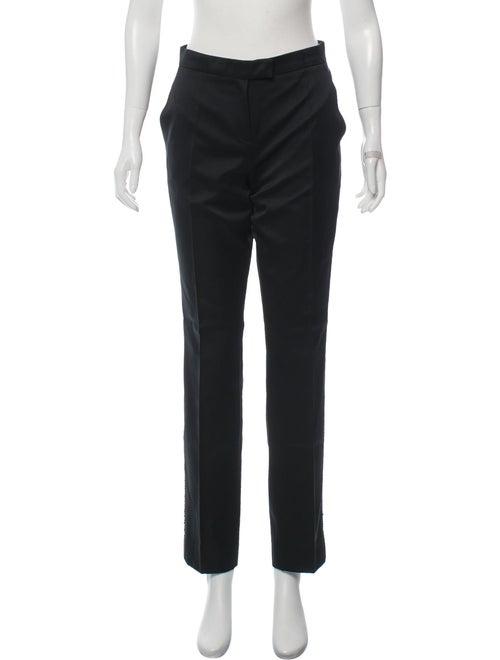 Alberta Ferretti Satin Embellished Pants Black